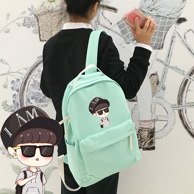 EXO BackpackKRIS LU HAN SE HUNBAEK HYUNCHAN YEOL School Satchelbooks Bag For Studentboys And Girls Back To Kpop In Backpacks From Luggage