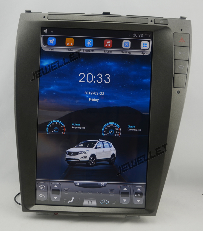12.1 tesla style vertical screen android 6.0 Quad core Car GPS radio Navigation for Lexus ES ES 240 ES 350 2007 2012