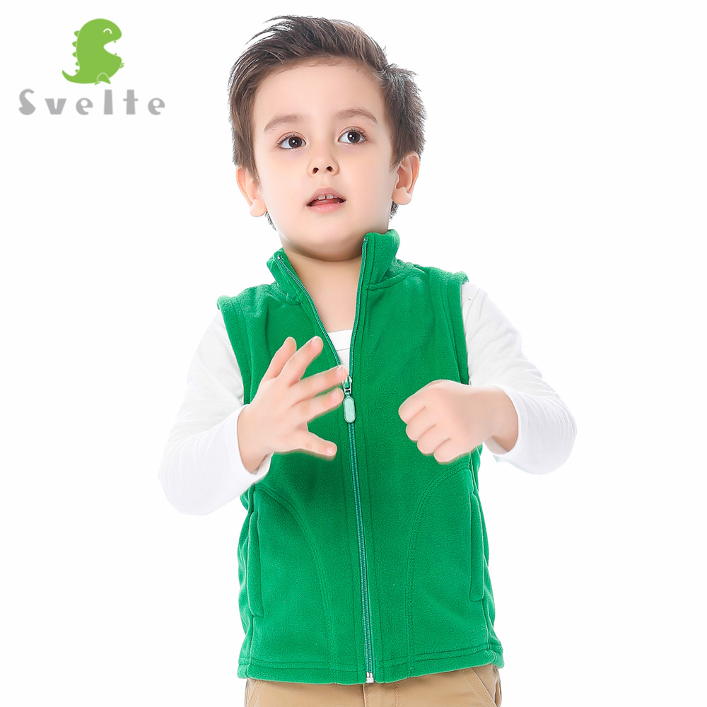 Svelte Brand Fall Spring for Children Boys Fur Fleece Vest kids Girls Soild Polar Fleese Waistcoat Enfant Unisex Clothe