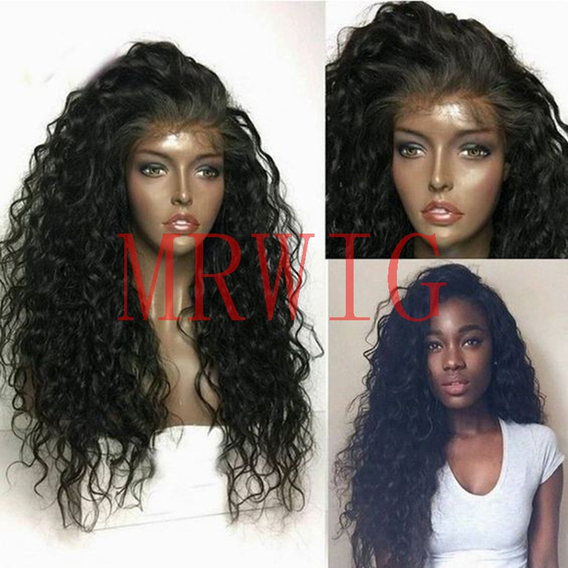 MRWIG hot selling factory wholesales free part kinky curly long hair baby hair glueless  ...