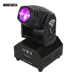 Venda quente mini LED Lira DMX512 10 W Spot Feixe de Luz Em Movimento Da Cabeça Luz Do Estágio Estroboscópio Para Entretenimento Em Casa Profissional fase