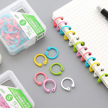 Creative Candy Colored Easy Ring Paper Sketch Note Book Loose Leaf Binder Multi-function Circle Calendar Keychain Key Ring(China)