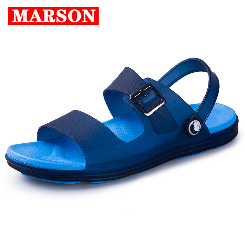 MARSON Men Sandals Summer Flip Flops Slippers Men Outdoor Beach Casual Shoes Male Sandals Water Shoes Outdoor Four Colors