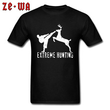 Customized Shirt Women Men Extreme Hunting Elk Animal Type Tshirt Natural Organic Cotton Fashion Tee Homme 16 Colors
