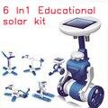 Venta caliente de la Nueva generación de Energía Solar juguetes Máquina de Aprendizaje de La Novedad juguetes Solares Juguetes 6 en 1 Para la Educación de Juguetes para niños Kids