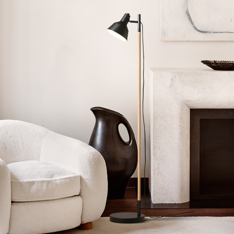 Creative Wood Floor Lamp Japanense Style Stand Lamp For Living Room Bedroom  Toolery Black White Art Home Decoration Lighting In Floor Lamps From Lights  ... Part 31