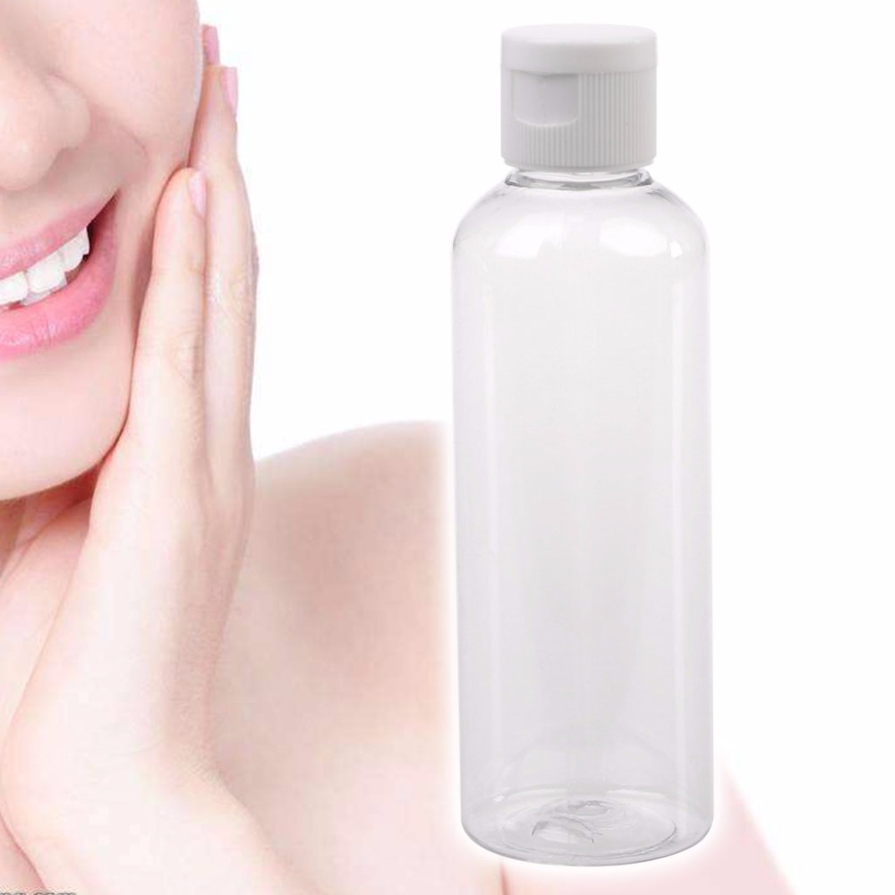 100Ml Clear Flip Top Cap Transparent Small Simple Empty Storage Bottles Lotion Cream Travel Refillable Bottles