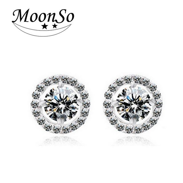 925 Sterling Silver Zircon Stud Earrings 3