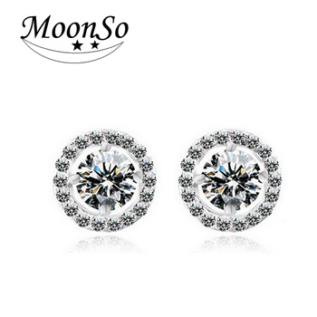 2020 Fashion Luxury 925 Sterling Silver 6mm Small Zircon Stud Earing Earrings for women christmas gift korean jewelry E232 3