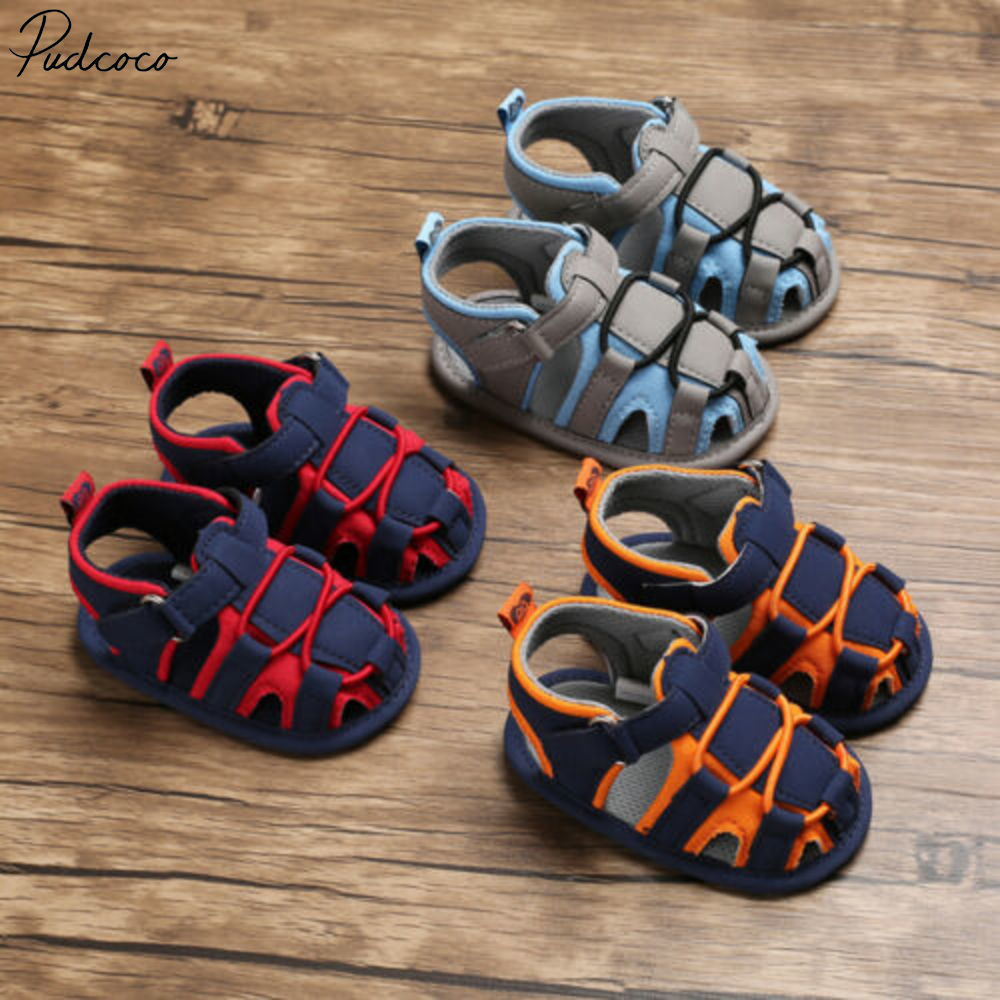 Fashion Baby Infant Kid Summer Girl Soft Sole Crib Toddler Boys Sandals Shoes Uk