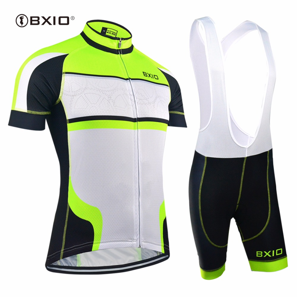 EU Brand BXIO Cycling Sets Seamless Stitching Short Sleeves Bicycle Clothing Fluo Green 5D Gel Pad Short Maillot Ciclismo 127 электронный манок егерь 5d green