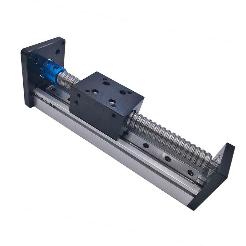 Ход 50 мм стержень с резьбой линейной направляющей модуль винт Линейный модуль для шаговый двигатель с ЧПУ мяч части Роботизированная рука к...