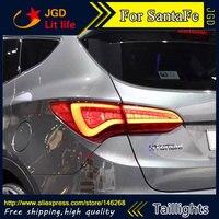 Free Shiping 12V 6000k LED Rear Light For Hyundai SantaFe Ix45 2013 2014 Taillight Lamps Auto