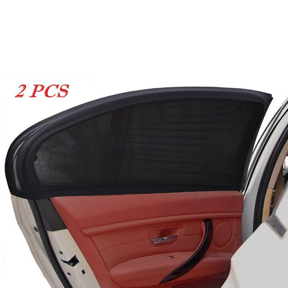 2 X Car Sun Shade Cover Rear Side Window Kids Baby Max UV Protection Block Mesh Rear Side Window Of Car Sun Shade