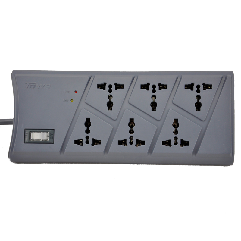 TOWE AP 1026TS Surge Protection 6 Ways GB2099 3 Universal 2meters ON OFF Switch Surge Protector