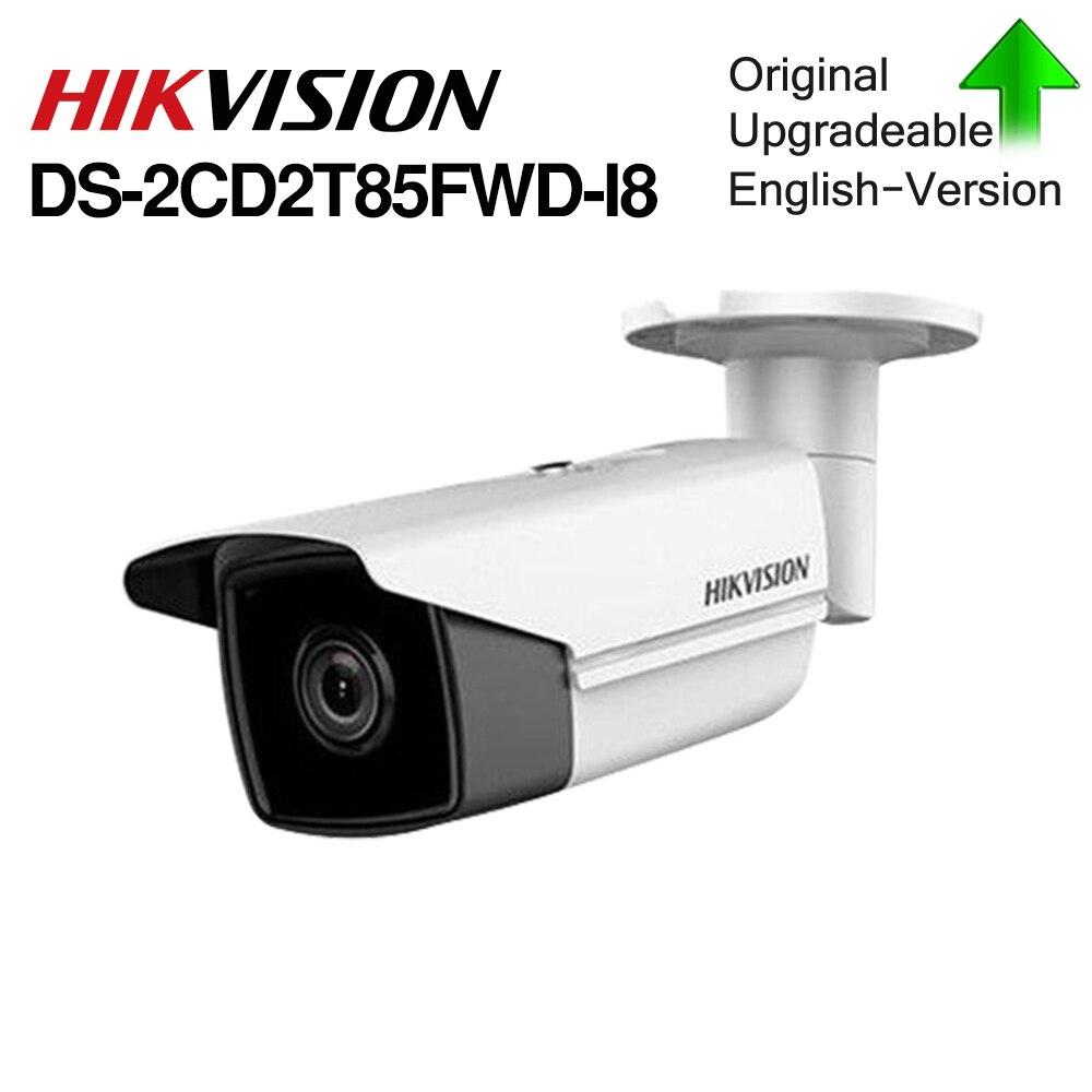 Câmera IP Bala DS-2CD2T85FWD-I8 Hik Original 8mp Rede Wired PoE 80m IR fixo câmera de segurança Embutido Slot Para Cartão SD
