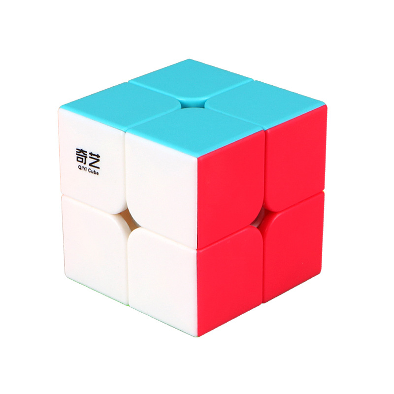 QiYi 2x2 Solid Color Profissional Magic Cube Competition Speed Puzzle Cubes Toys For Children Kids cube Game-specific 6 Colors image