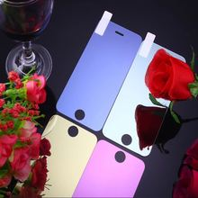 For Iphone6 plus 6P Colorized Mirror Plating Glass Guard Film Screen Protector for iphone 6 6s