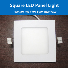 Ultra-thin 3W 6W 9W 12W 15W 18W 24W Anti-leakage Square LED Panel Light Recessed Ceiling Lamp AC100-240V Downlight wall light
