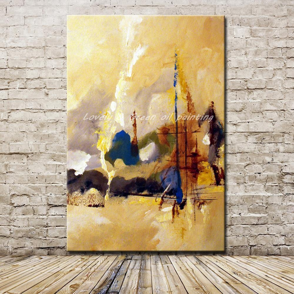Unframed Pictures Hand Painted Modern Abstract Landscape Oil ...