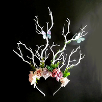 Gothic Floral Flower Headband Handmade Goth Tree Branches HairBand Festival Wedding Hair Accessories