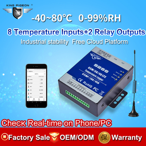 Image 2 - GSM 3 グラム 4 4G LTE 携帯 RTU テレメトリ温度データロガー 8 チャンネル温度監視アラート sms 経由/ コール/GPRS S266