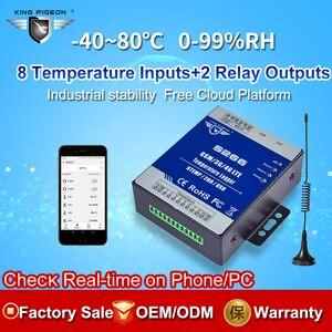 Image 2 - GSM 3G 4G LTE Cellular RTU Telemetry Temperature Data Logger 8 Channel Temperature Monitoring Alert via SMS/Call/GPRS S266
