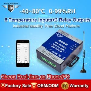 Image 2 - GSM 3G 4G LTE Cellular RTU telemetría registrador de datos de temperatura alerta de monitoreo de temperatura de 8 canales a través de SMS/Call/GPRS S266