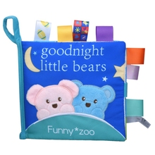 1Pc Baby Educational Learning Toys Infant Cloth Book Cartoon Animal Pattern Baby Soft Activity Crinkle Cloth Books 1 1pc baby educational learning toys infant cloth book cartoon animal pattern baby soft activity crinkle cloth books 1