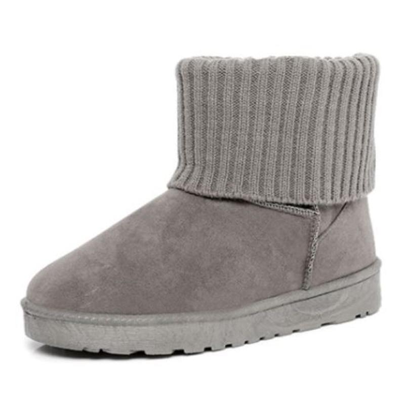 Chaussures Mode Cheville Pour on En Hiver Plat Peluche Neige Bottes gris Avec Filles Femmes Slip Casual Sjjh Noir A1370 rose Rond Boot Court Bout aqfUcTxWS