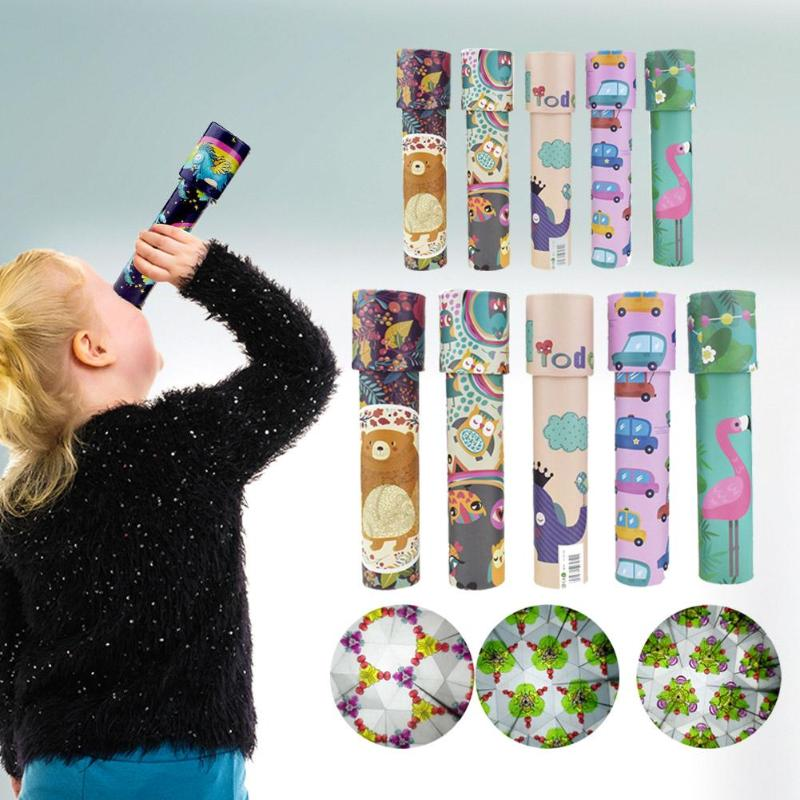 Classic Toys Kaleidoscope Rotating Colorful World Kids Gift Color Random Paper Plastic Kaleidoscope Colorful Interactive Toy Chi