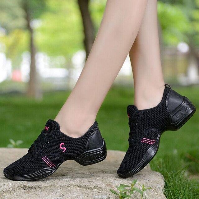 2d5e70a81784f Nuevo 2016 zapatos de la danza de las mujeres Jazz hip hop blanco negro  salsa zapatillas