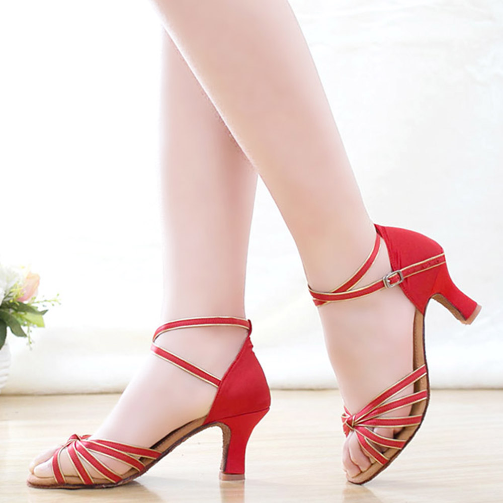Hot Sale Ballroom Latin Dance font b Shoes b font For Adult Ladies Girl High Heel