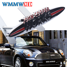 цена на Car Stickers Emblem Badge For Mini Cooper S John Cooper Works R50 R52 R53 R55 R56 R57 R58 R59 R60 R61 F55 F56 Clubman Countryman