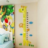 DIY Cartoon wall with children's home decoration children gift 3d murals art poster wallpaper Height stickers