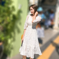 2019 Women Tulle dress Fashion Elastic High Waist Mesh Tutu dress Pleated Long dress Midi dress Saias Faldas Jupe Femmle
