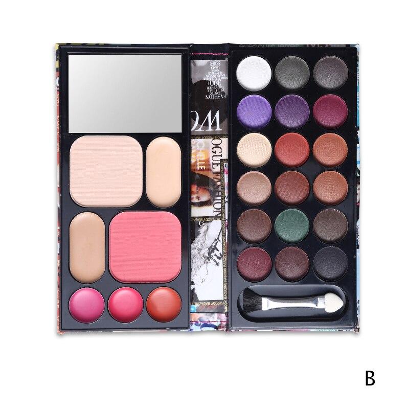 Makeup Set Multi Function 18 Color Eyeshadow Palette Blusher 3 Color Lipstick Eyebrow Cake