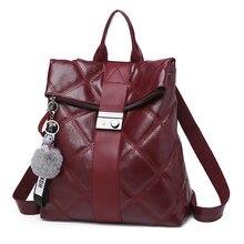 6fedfb4ec Estrutura do diamante Vermelho Mulheres Mochila Moda sacos de Alta  Qualidade bolsa de ombro fêmea PU