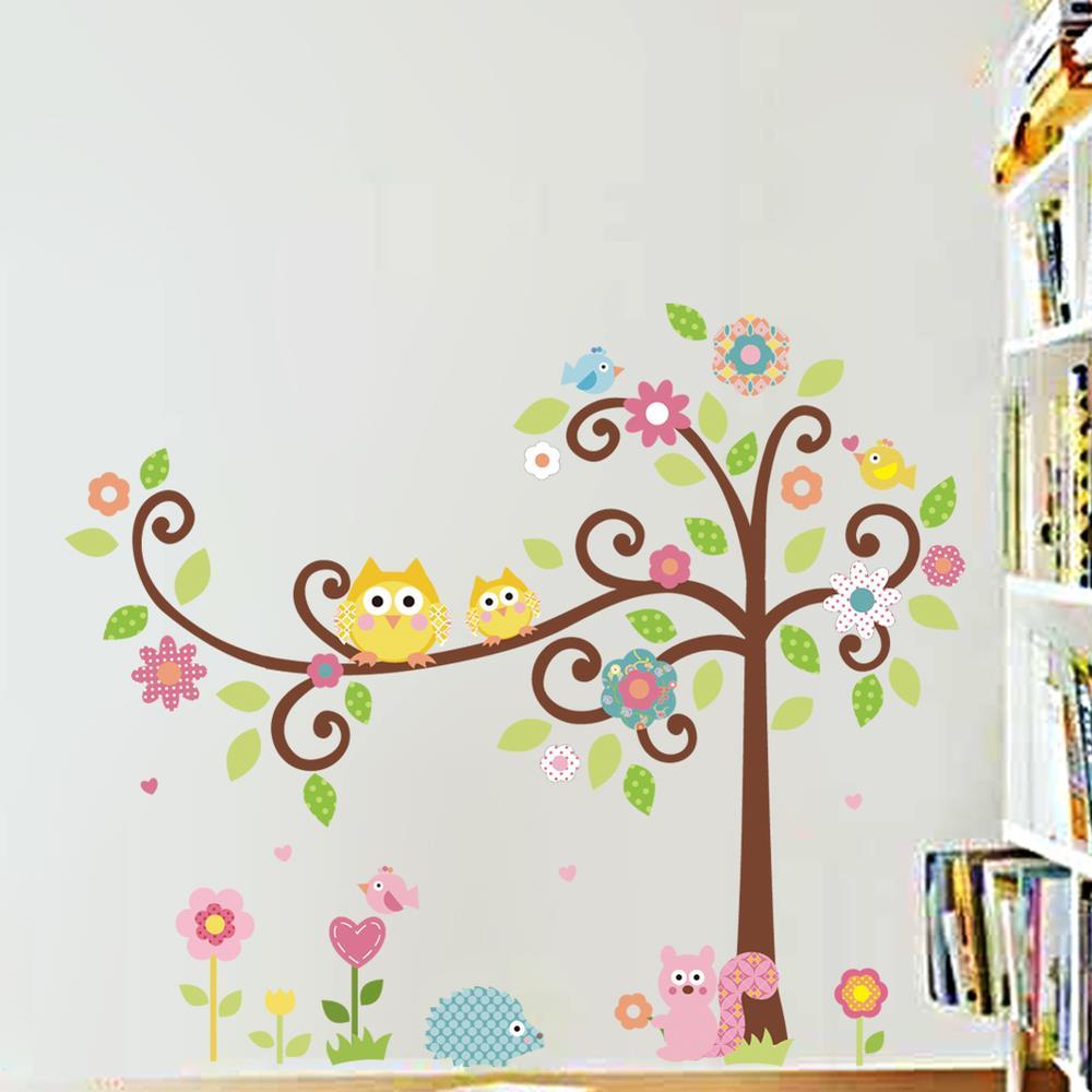 Wall decal new york letter frame cheap stickers world discount - Aliexpress Com Buy Cute Owl Tree Wall Decal Kindergarten Diy Art Vinyl Wall Stickers Decor Mural From Reliable Stickers Decoration Murale Suppliers On