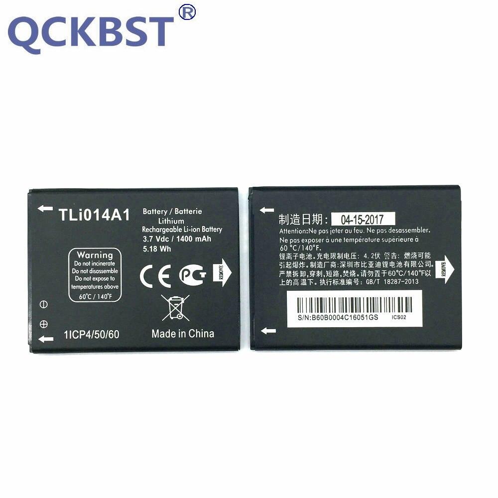 QCKBST New Original <font><b>Battery</b></font> <font><b>For</b></font> <font><b>Alcatel</b></font> one touch pop C3 4033D M Pop 5020 High Quality 1400mAh 3.7v Cell Phone Batterie