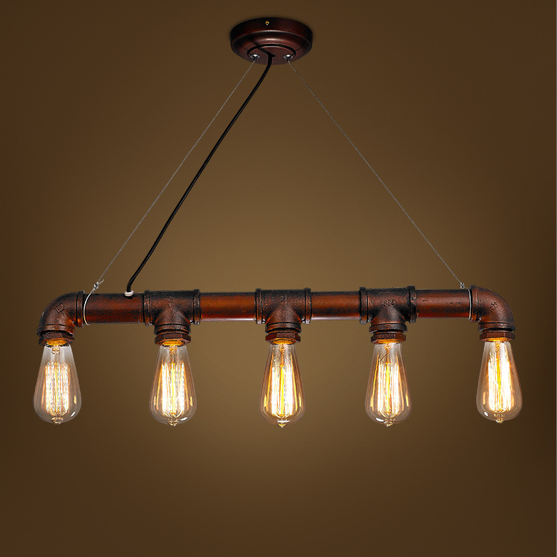 Chandelier Iron Pipes Pendant Lamps