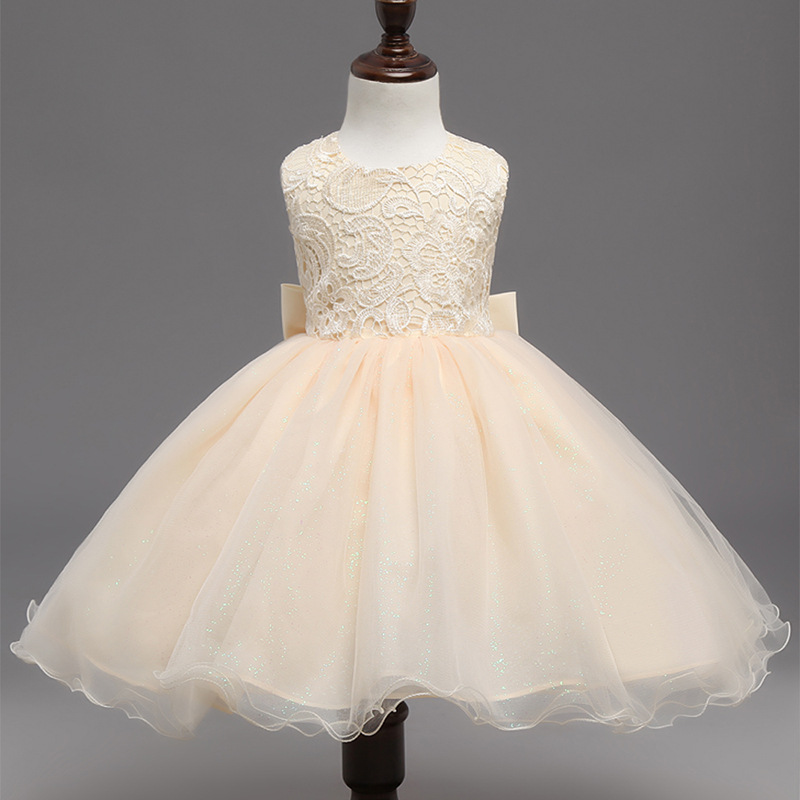 Brand Children Girl Clothing Backless Baby Ceremonies Dress Lace Princess Infant Kids Formal Wedding Party Dresses - Sweet heart store