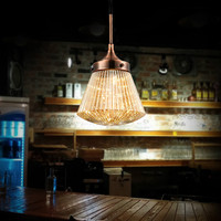 American Vintage Restaurant Stripe Glass Chandeliers DIY Creative Home Deco Living Room Pumpkin Chandelier Light LED