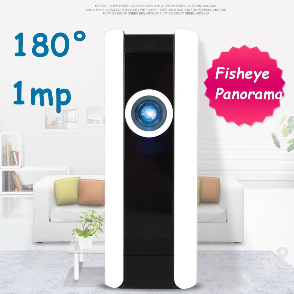 ФОТО 720p Fisheye 180 Degree 1mp IP Camera WiFi Panoramic Wireless Wi-Fi Camera TF Card CCTV Security Surveillance Home Camara