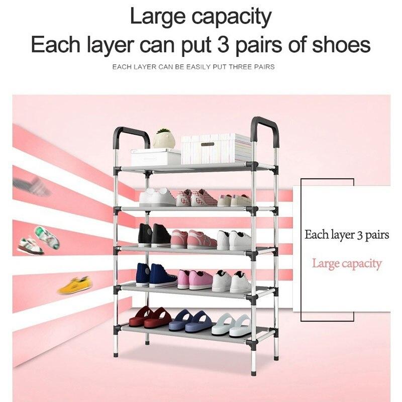 Holder Shelf Shoe-Rack Cabinet-Organizer Furniture Assemble-Shoes Storage Living-Room