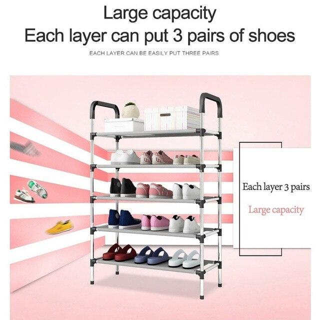 Storage Shoe Rack Hallway Cabinet Organizer Holder 3/4/5 Layers Assemble Shoes Shelf Home Living Room Furniture  Shoe Racks 3