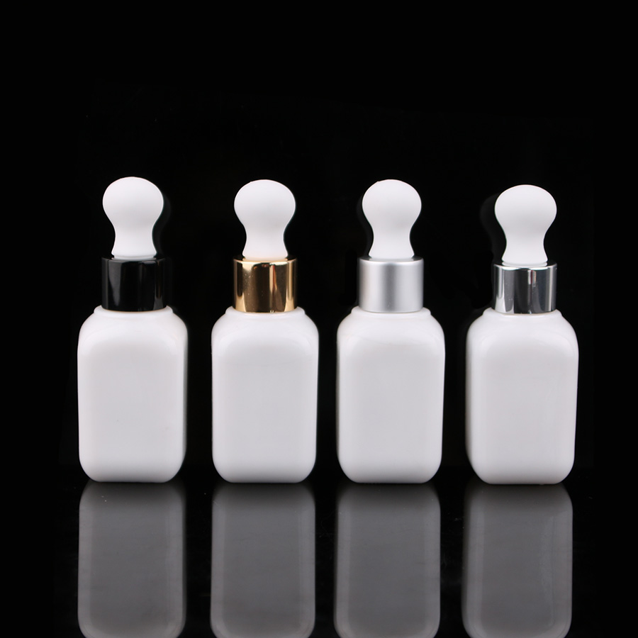Merx Beauty wholesalers 12pcs 35ml 1 oz glass dropper white glass Dropper bottle,empty perfume bottles, Liquid Bottle-in Refillable Bottles from Beauty & Health    1