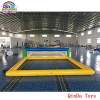 Giant inflatable aqua sports volleyball game inflatable beach volleyball court for kids and adults