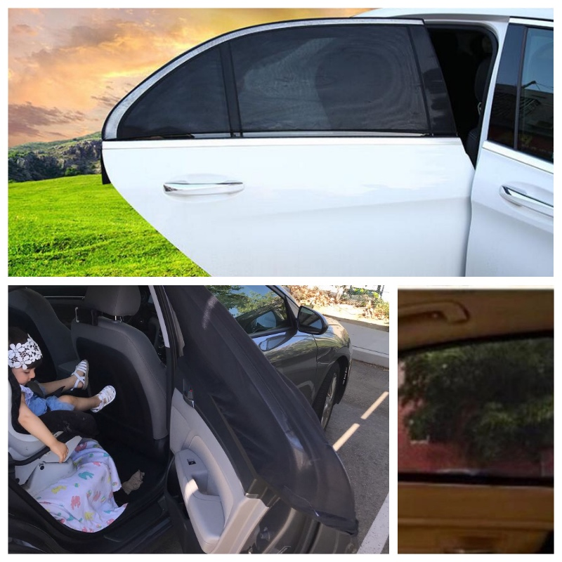 DropShipping 2 Pcs Auto Sonnenschutz UV Schutz Auto Vorhang Auto Fenster Sonnenschirm Seite Fenster Mesh Sonnenblende