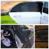 DropShipping 2Pcs Car Sun Shade UV Protection Car Curtain Car Window Sunshade Side Window Mesh Sun Visor